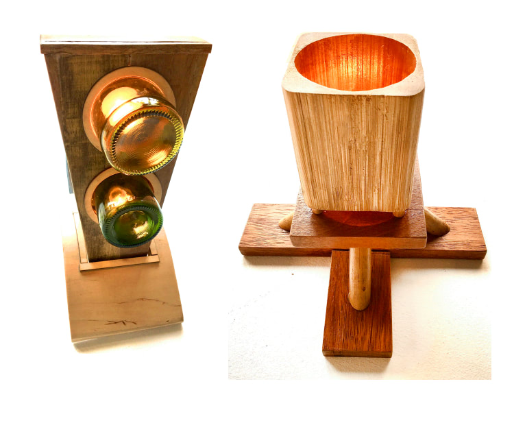 Picture of 3D rendered lamp parts