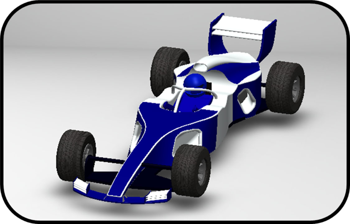 Picture of a 3D rendered car
